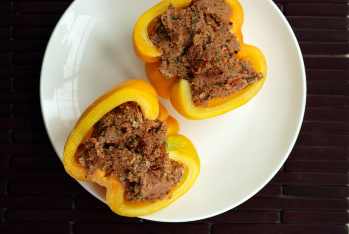 Raw Italian Stuffed Peppers with Sausage Pate (& Raw Italian Pate Collard Wraps)