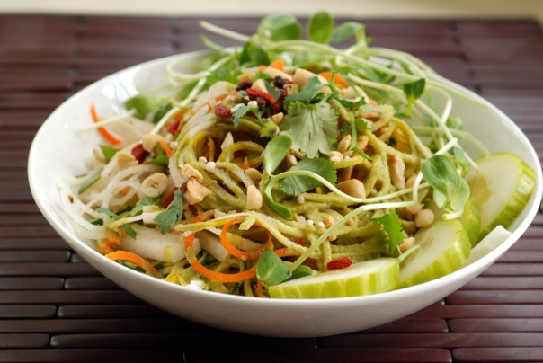 Tangled Thai Salad with a Lime Peanut Dressing