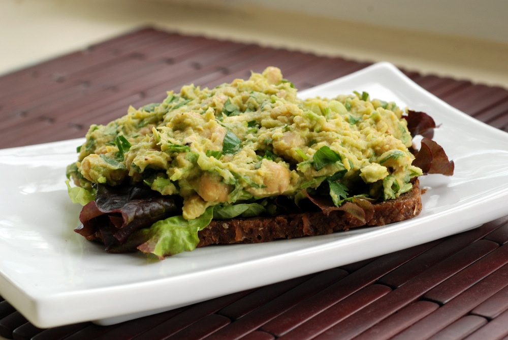 Smashed Chickpea and Avocado Sandwich with Lime and ...