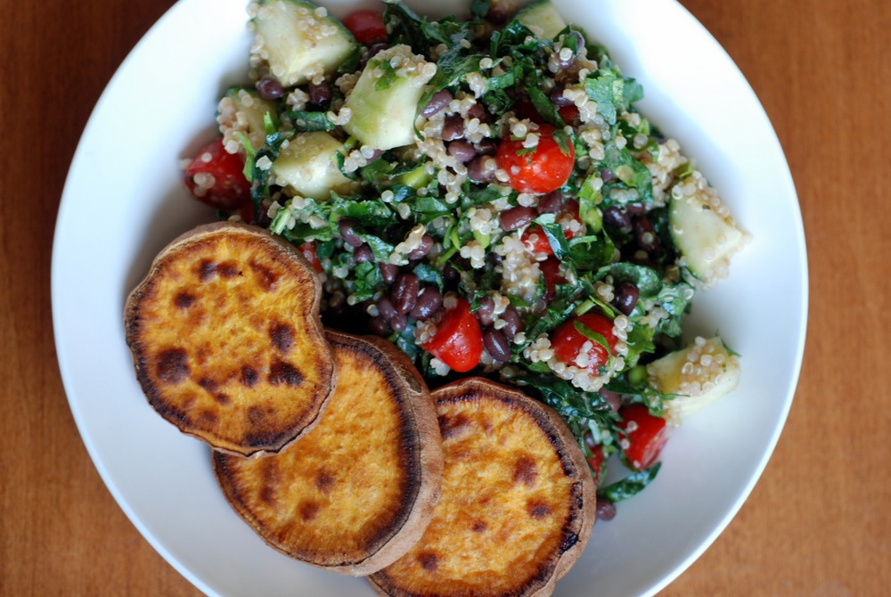 ... Adzuki Bean and Quinoa Kale Salad with the best Roasted Sweet Potatoes