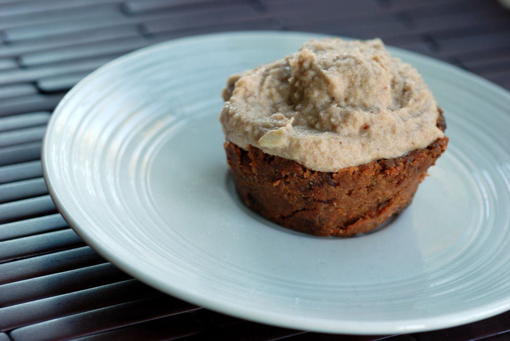 Raw Carrot Cake Cupcakes with Cashew Frosting   the taste space