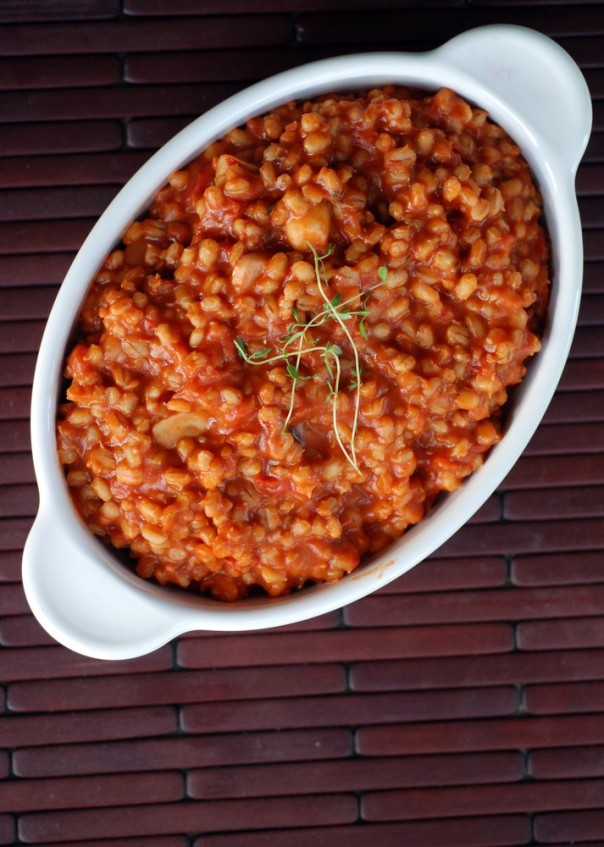 Lemon-Kissed Tomato Barley Risotto