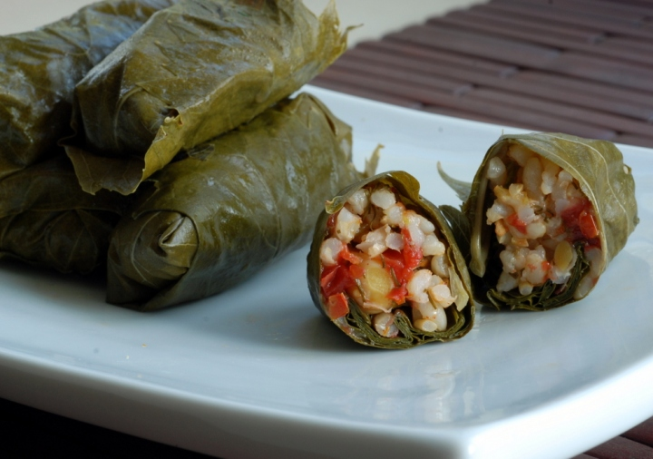 Dolmas (Middle Eastern Stuffed Grape Leaves)