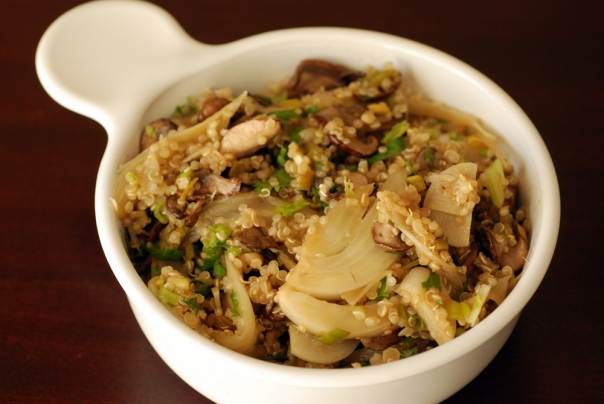 Caramelized Fennel and Mushroom Quinoa Salad