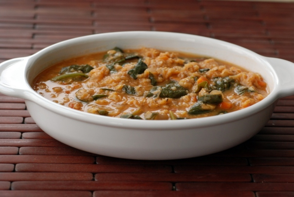 Turkish Red Lentil Peasant Soup with Sizzling Mint