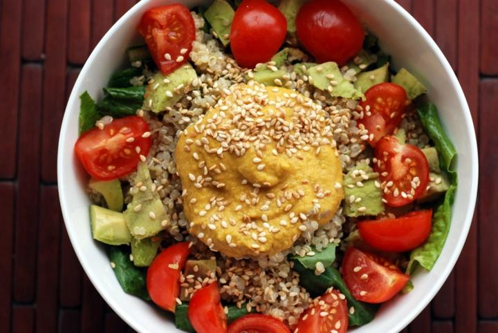 Tomato Avocado Quinoa Salad with a Carrot Ginger Sesame Dressing | the ...