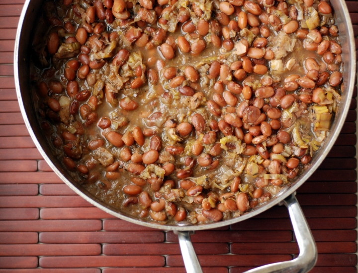 Braised White Beans and Leeks