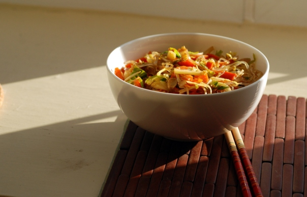 Chinese Five Spice Vegetable and Noodle Stir Fry, Take 2
