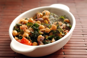 Indian-Spiced Chickpeas and Kale