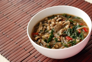 Smoky Black Eyed Pea and Kale Stew