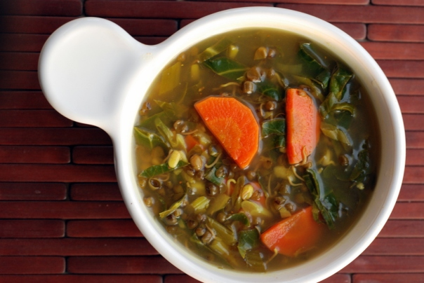 Indian Sprouted Mung Bean Stew