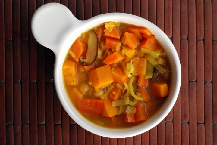 Better Than Chicken Soup (Miso Curry Squash and Chickpea Soup)