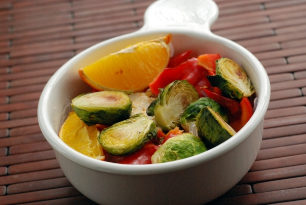 Roasted Orange Veggie Noodle Bowl