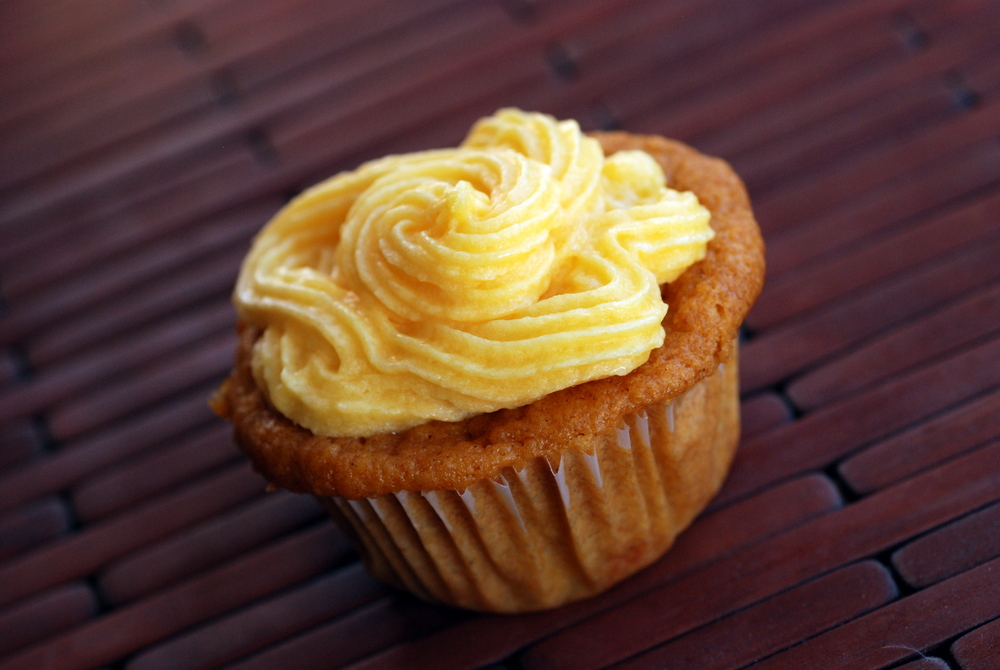 ... Mango cupcakes with a mango coconut oil buttercream frosting, anyone