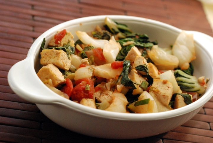 Chinese Baby Bok Choy and Tofu Stirfry