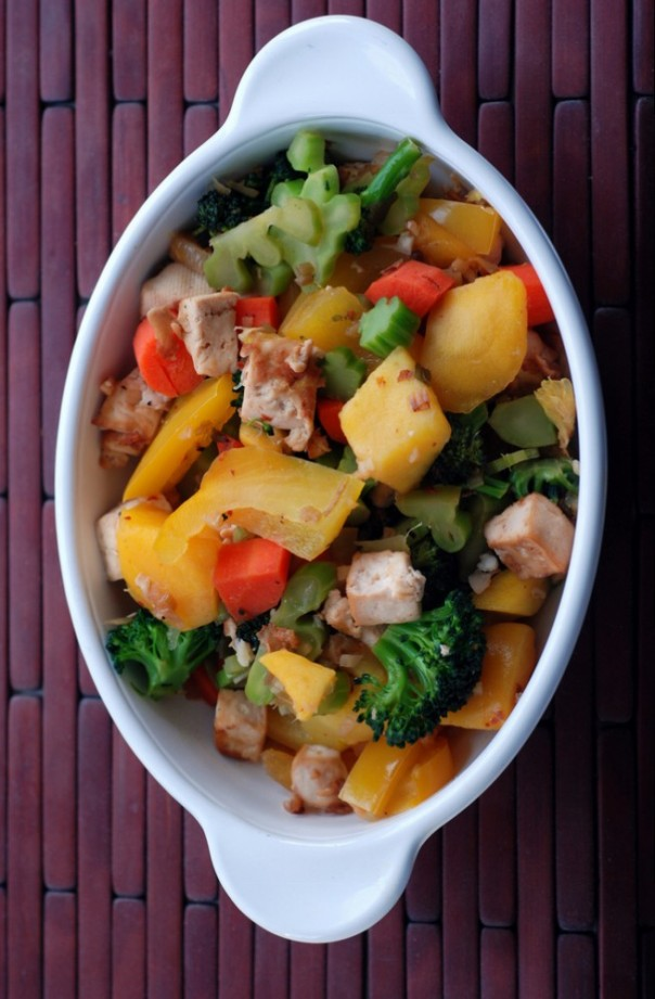 Spicy Mango and Tofu Stir Fry