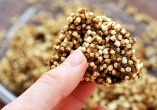 Nut-Free Puffed Quinoa Treats