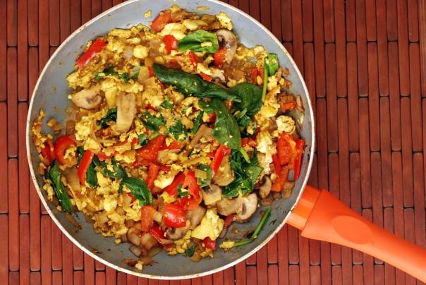 Chili Masala Tofu Scramble