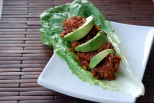Ancho Lentil Taco Salad Wraps
