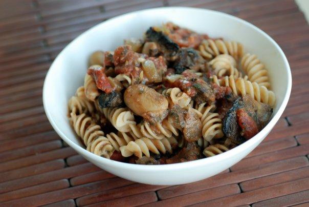 Creamy Mushroom Tomato Pasta