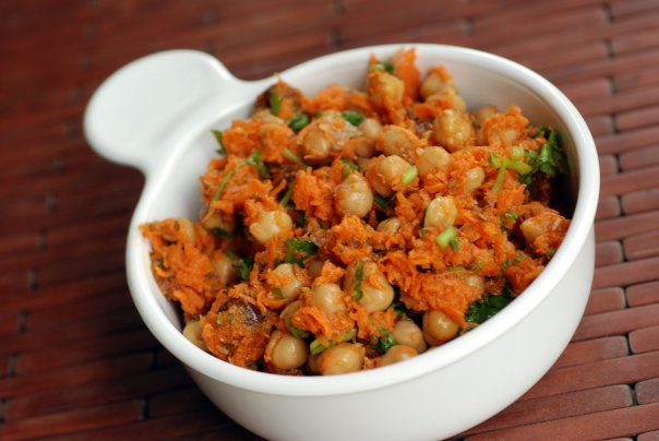 Morrocan Carrot and Chickpea Salad