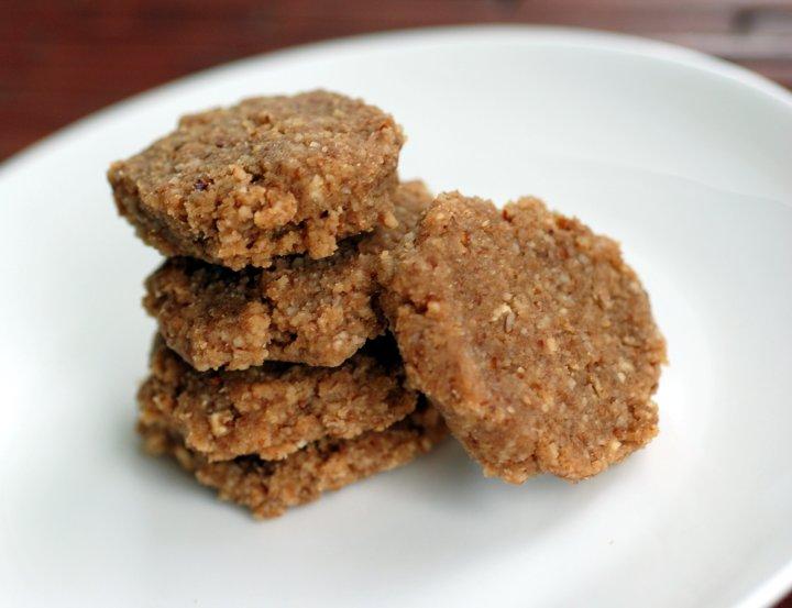 Raw Pecan Shortbread Cookies