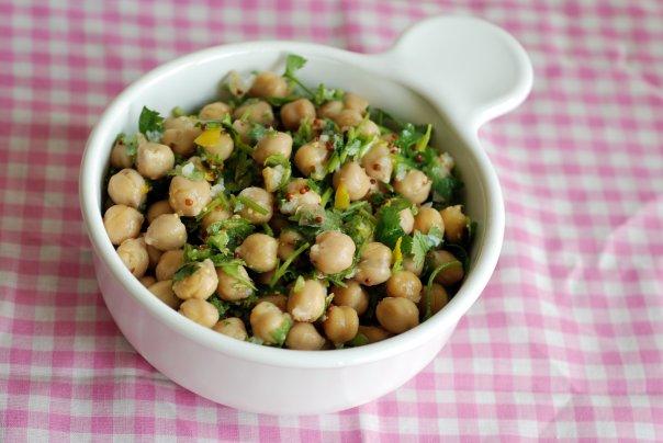 Zesty Lemon Cilantro Chickpea Salad