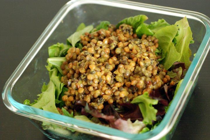 Creamy Curried Lentil Salad
