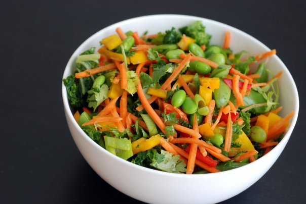 Asian Kale Salad with Edamame