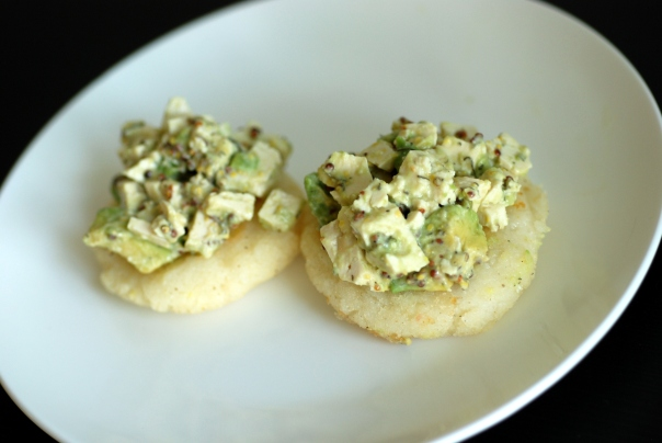 Tofu-Avocado Salad with Arepas