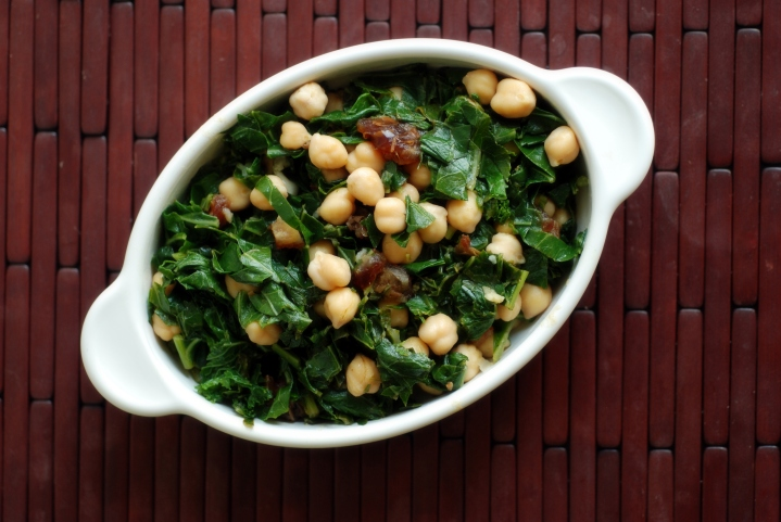 Citrus Collards and Chickpeas