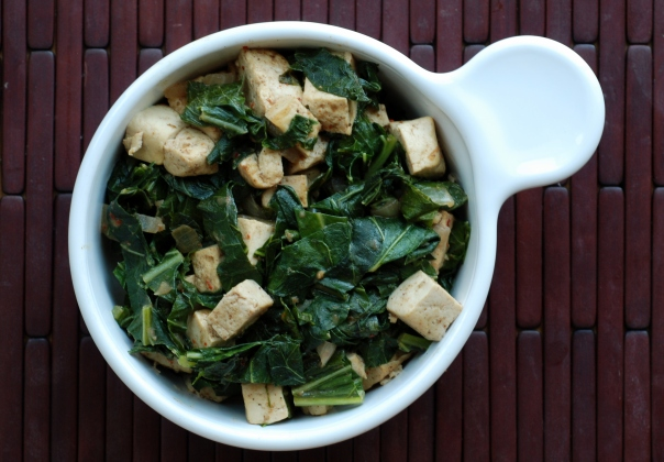 Indian-Spiced Creamed Collard Greens & Tofu
