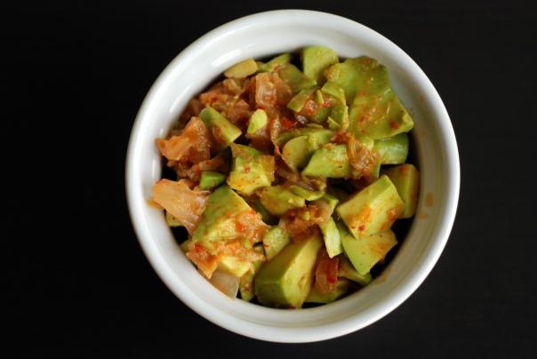Guaca-Chi (Guacamole with Kimchi)