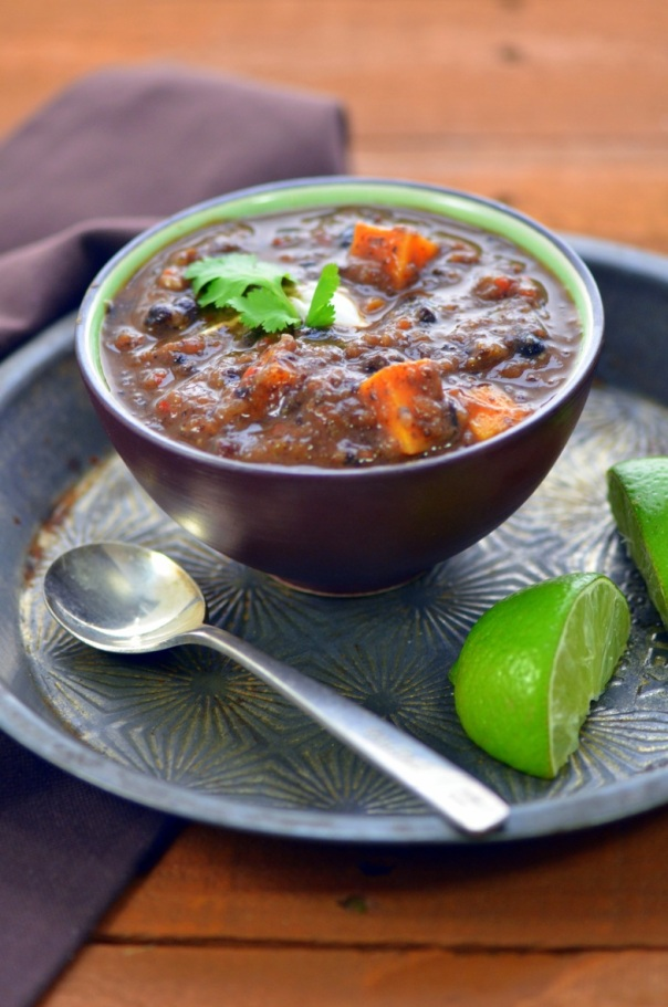 Black Bean and Sweet Potato Stew & Cookbook Giveaway!