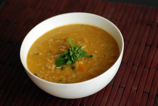 Winter Squash, Coconut & Lentil Soup