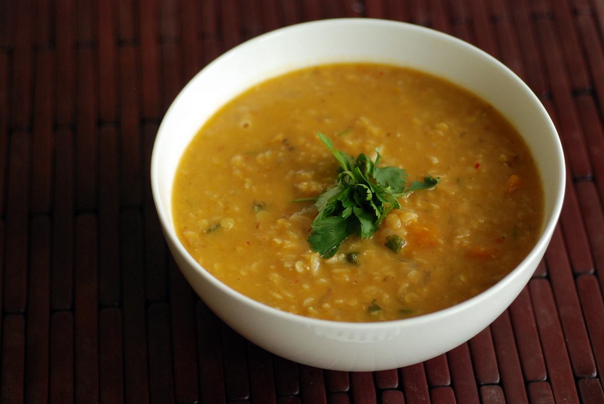 Kabocha Squash, Coconut  Lentil Soup the taste space