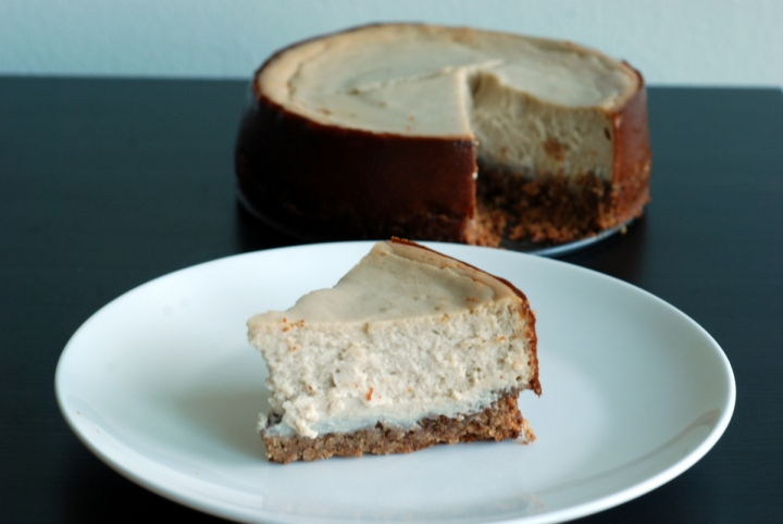 Rich Lemon Cheesecake with Pecan Shortbread Crust