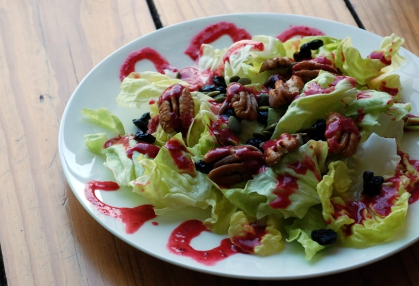 Holiday Salad with Cranberry-Orange Vinaigrette