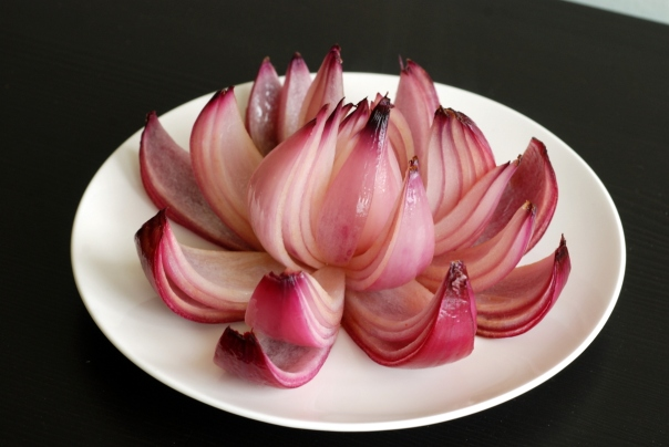 Roasted Onion Flowers