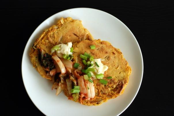 Kim-Chi-lla (Kimchi Chickpea Flour Pancake)