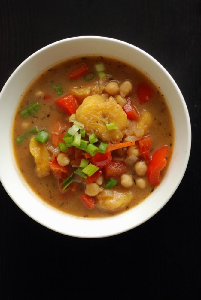 Jamaican Jerk Plantain Soup