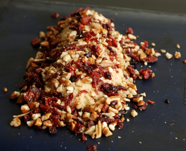 Pecan and Cranberry Cheese Log