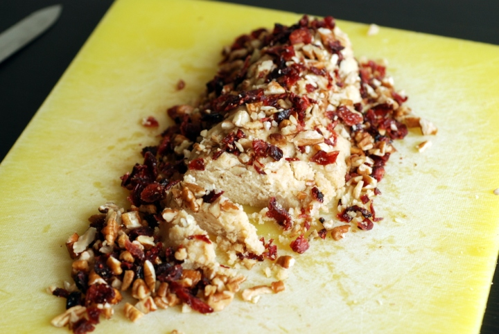 Pecan and Cranberry Cheese Log & Cookbook Giveaway!