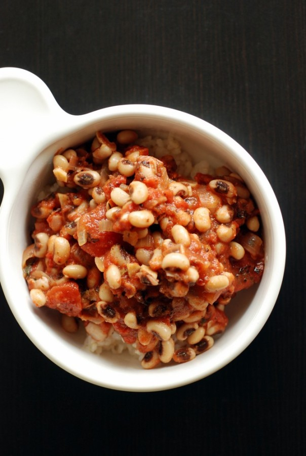 Southern Black Eyed Peas with Stewed Tomatoes