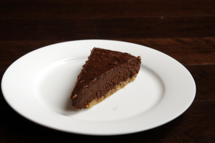 Chocolate Peanut Butter Pie with an Almond-Coconut Crust