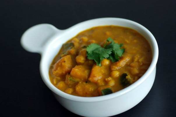 Lemongrass, Chickpea and Kabocha Squash Coconut Curry