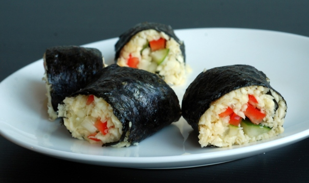 Parsnip Rice Sushi with Sweet Tamarind Dipping Sauce