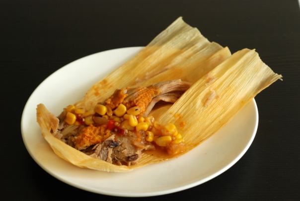 Black Bean and Sweet Potato Tamales