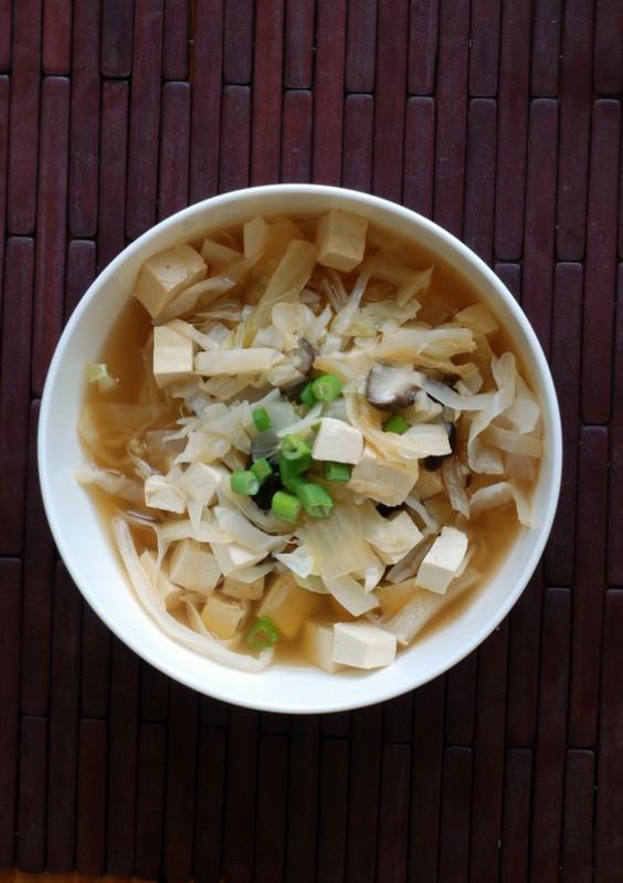 Kimchi Stew with Tofu and Mushrooms (Vegan Kimchi Jigae)