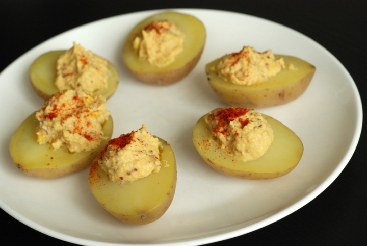 "Vegan Deviled ""Eggs"" & Cookbook Giveaway"